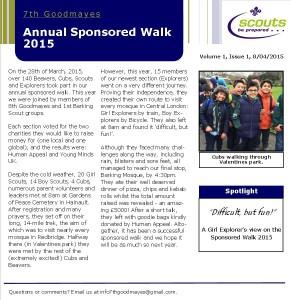 Sponsored Walk Article GS
